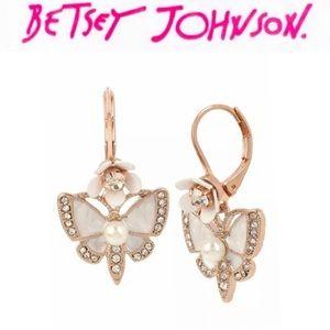 Betsey Johnson Flutterby Earrings